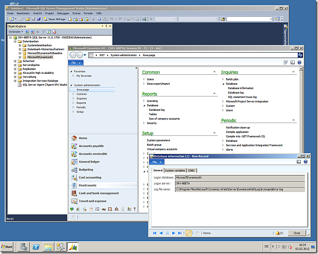Dynamics AX 2012 with SQL Server 2012 RC0