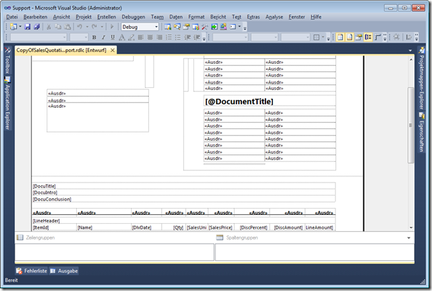 Dynamics AX 2012 duplicated report in report designer