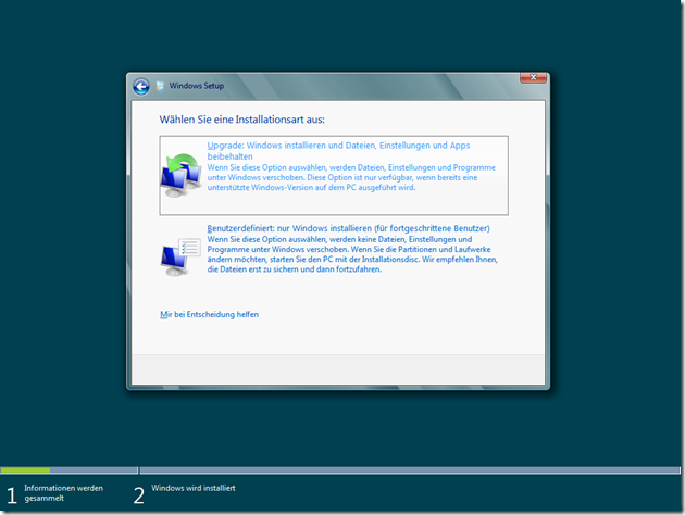 Windows Server 8 Beta Upgrade