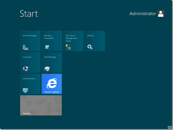 Windows Server 8 Beta Start Screen