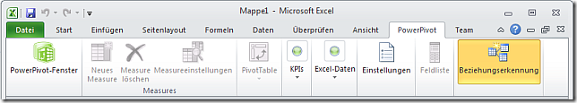 PowerPivot Tab in Excel 2010