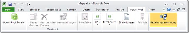 PowerPivot Tab in Excel 2010