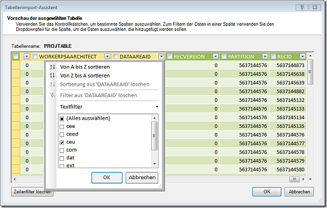 PowerPivot Data Import