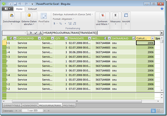 Calculated Field in PowerPivot