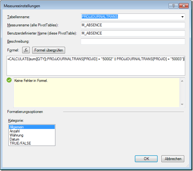 PowerPivot Measure posted Qty on Holiday or Illness