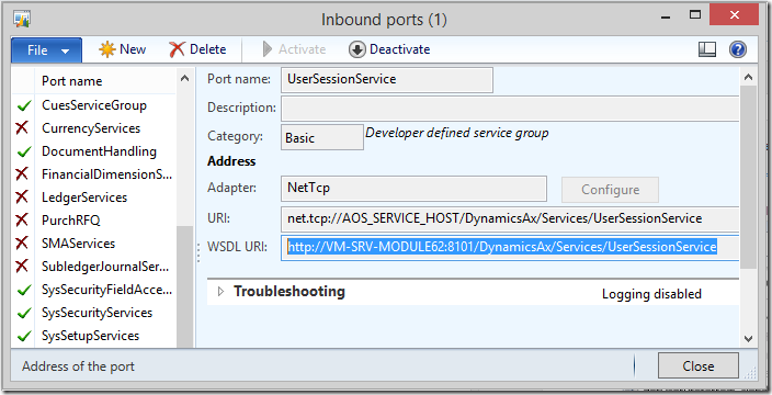 UserSessionService in Dynamics AX 2012 R2