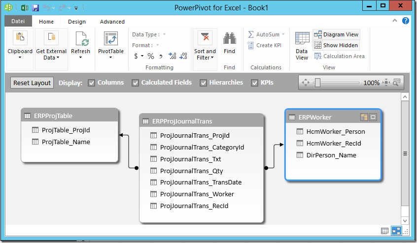 PowerPivot 2013 Relations