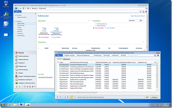 Windows 7 and Dynamics Ax 2012 R2 on old HP nx7010