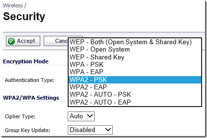 WPA2-AUTO DHCP Problem with Windows 8