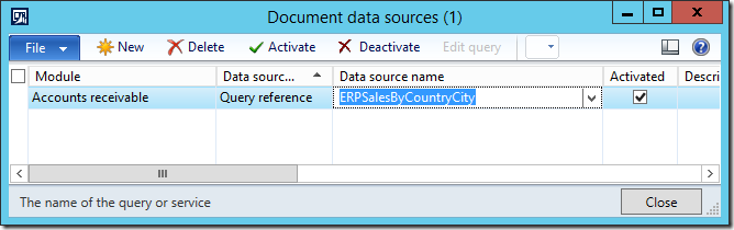 Publish Query with aggregation function as document data source