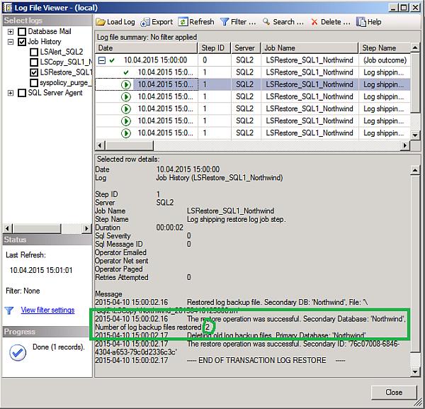 sql server 2012 how to delete log shipping