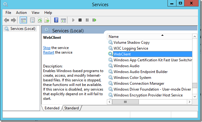 WebClient Windows Service