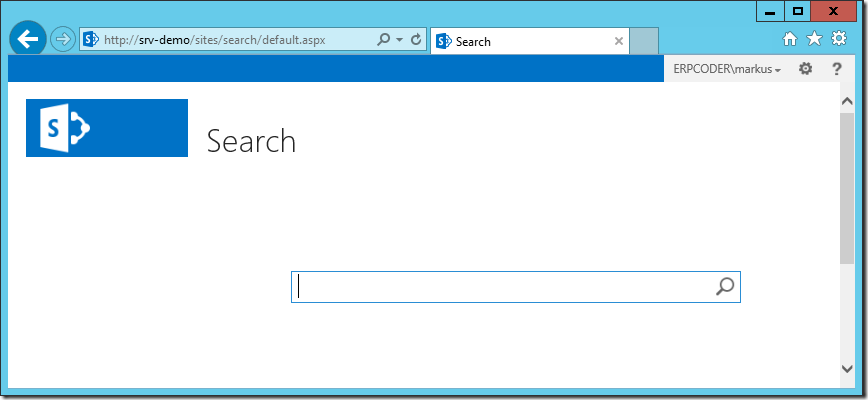 SharePoint Basic Search Center