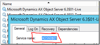 Dynamics AOS name for scripting