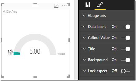 Power BI gauge control
