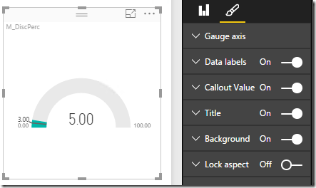 Power BI gauge control