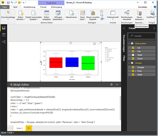 R Script and Boxplot in Power BI