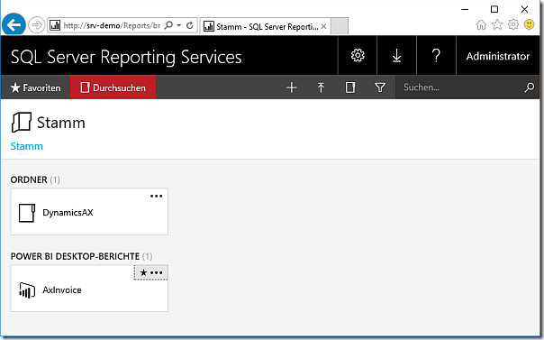 Host Power BI files in SSRS 2016