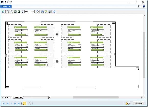 使用图形表示Dynamics AX中的仓库 / Graphical representation of warehouse usage in Dynamics AX