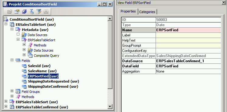 Dynamics AX 2009 view based on UNION query