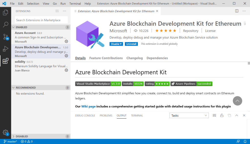 Blockchain Development Kit for VS Code