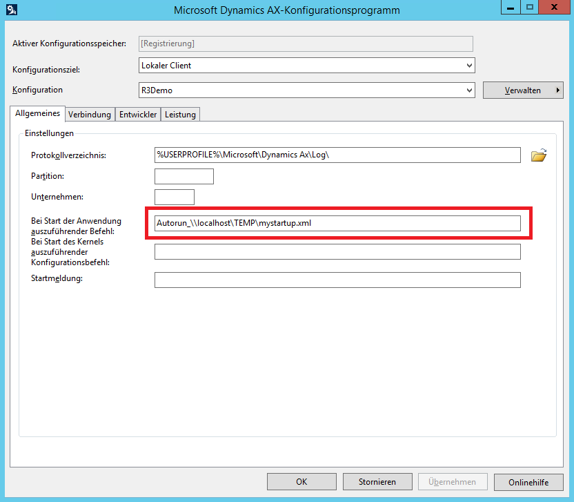 在Dynamics Ax 2012中启动并打开特定记录 / Start and open a specific record in Dynamics Ax 2012