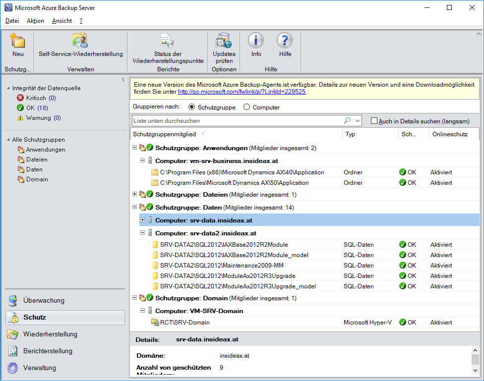 Azure Backup Server代理安装问题 / Azure Backup Server agent installation trouble